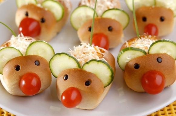 Bisnaguinha de cenoura em formato de ratinho