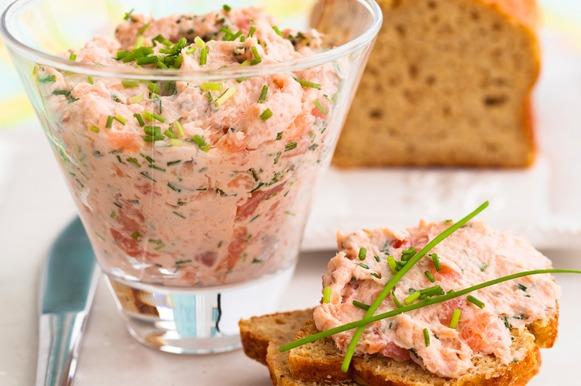 patê de atum, salmão, sardinha ou bacalhau