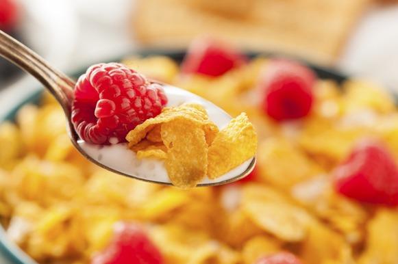 Cereais com frutas