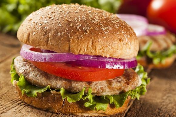 Hambúrguer no pão integral