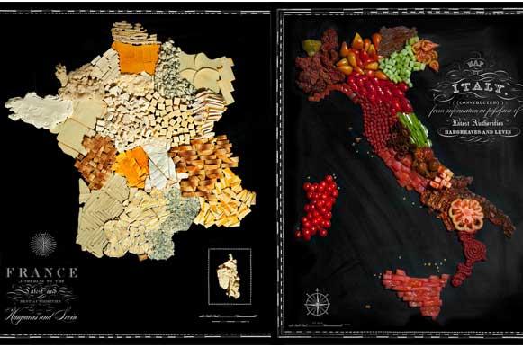 Food Maps: França e Itália