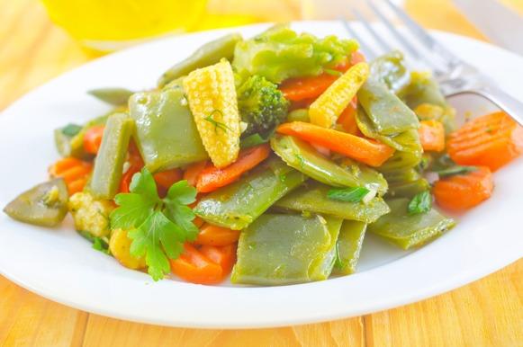 Legumes e verduras grelhados ou refogados