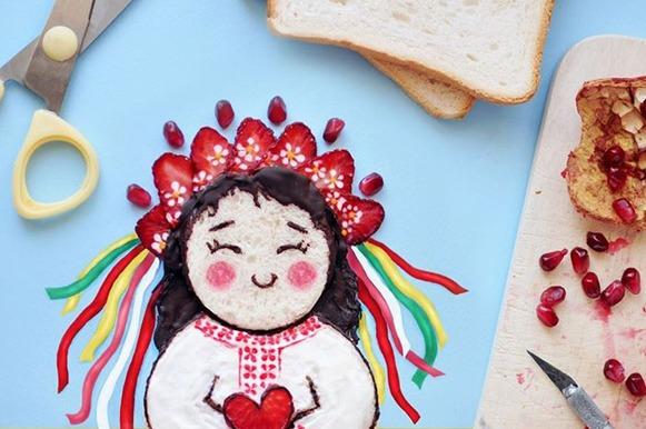 Arte no pão de forma